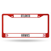 Atlanta Hawks COLORED Chrome Frame SECONDARY RED