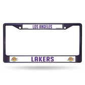 Los Angeles Lakers PURPLE COLORED Chrome Frame