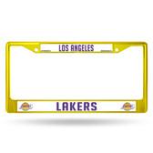 Los Angeles Lakers COLORED Chrome Frame SECONDARY YELLOW