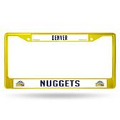 Denver Nuggets COLORED Chrome Frame SECONDARY YELLOW
