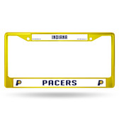 Indiana Pacers YELLOW COLORED Chrome Frame