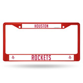 Houston Rockets RED COLORED Chrome Frame