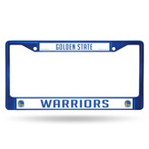 Golden State Warriors BLUE COLORED Chrome Frame