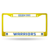 Golden State Warriors COLORED Chrome Frame SECONDARY YELLOW