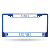 Memphis Grizzlies BLUE COLORED Chrome Frame