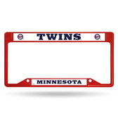 Minnesota Twins INVERTED RED COLORED Chrome Frame