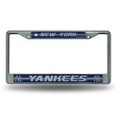 New York Yankees Bling Chrome Frame