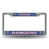 Texas Rangers - TX Bling Chrome Frame