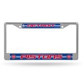 Detroit Pistons Bling Chrome Frame