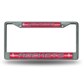 Houston Rockets Bling Chrome Frame