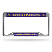 Minnesota Vikings INVERTED Bling Chrome Frame