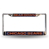 "Chicago Bears ""BEAR DOWN"" LASER Chrome Frame"