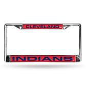 Cleveland Indians RED LASER Chrome Frame