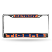 Detroit Tigers ORANGE LASER Chrome Frame