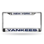 New York Yankees SILVER LASER Chrome Frame
