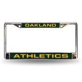 Oakland Athletics OAKLAND A'S GREEN LASER Chrome Frame