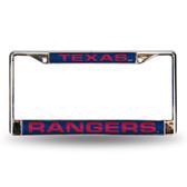 Texas Rangers BLUE LASER Chrome Frame