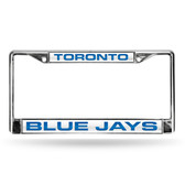 Toronto Blue Jays Chrome Frame  - WHITE BACKGROUND WITH ROYAL LETTERS