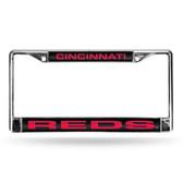 Cincinnati Reds BLACK LASER Chrome Frame