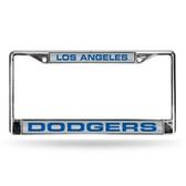 Los Angeles Dodgers WHITE LASER Chrome Frame