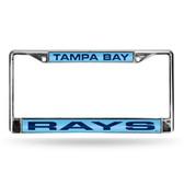Tampa Bay Rays LIGHT BLUE LASER Chrome Frame