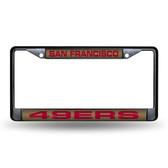 San Francisco 49ers BLACK LASER Chrome Frame
