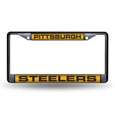 Pittsburgh Steelers  BLACK LASER Chrome Frame