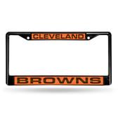 Cleveland Browns BLACK LASER Chrome Frame