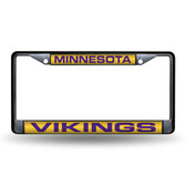 Minnesota Vikings BLACK LASER Chrome Frame
