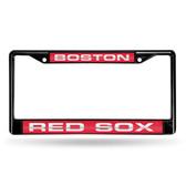 Boston Red Sox BLACK LASER FRAME W/RED INSERT