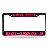 Cleveland Indians BLACK LASER Chrome Frame