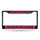 Cleveland Indians BLACK LASER Chrome Frame