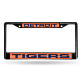 Detroit Tigers BLACK LASER Chrome Frame
