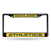 Oakland Athletics BLACK LASER Chrome Frame