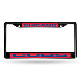 Chicago Cubs BLACK LASER FRAME W/ROYAL INSERT