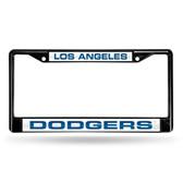 Los Angeles Dodgers BLACK LASER Chrome Frame