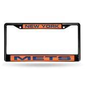 New York Mets BLACK LASER Chrome Frame