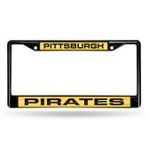 Pittsburgh Pirates BLACK LASER Chrome Frame
