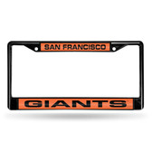 San Francisco Giants BLACK LASER FRAME W/ORANGE INSERT