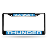 Oklahoma City Oklahoma City Thunder BLACK LASER Chrome Frame