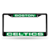 Boston Celtics BLACK LASER Chrome Frame