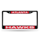 Atlanta Hawks BLACK LASER Chrome Frame