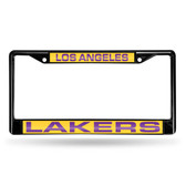 Los Angeles Lakers BLACK LASER Chrome Frame