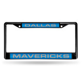Dallas Mavericks BLACK LASER Chrome Frame