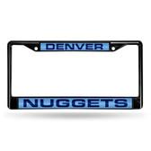 Denver Nuggets BLACK LASER Chrome Frame