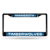 Minnesota Timberwolves BLACK LASER Chrome Frame