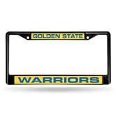 Golden State Warriors BLACK LASER Chrome Frame