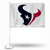 Houston Texans WHITE BKG Car Flag