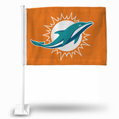 "Miami Dolphins "" LOGO ONLY"" Car Flag  