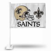 New Orleans Saints (WHITE) HELMET Car Flag